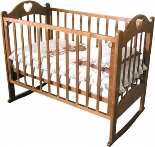 Кроватка детская Любаша С-635 (колесо-качалка)
